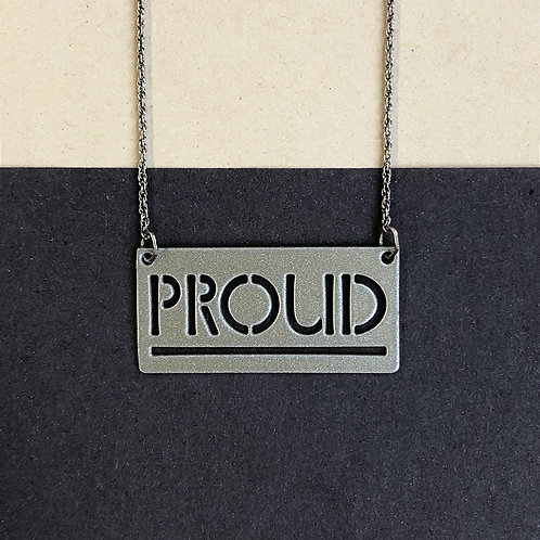 PROUD pendant, silver