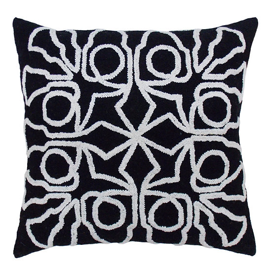 Trumpet Bells Pillow, Black/Cream