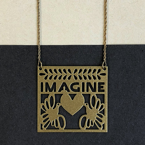 IMAGINE pendant, gold