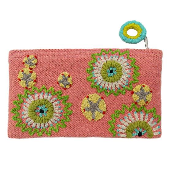 Pinwheel purse, 5 x 9 in.