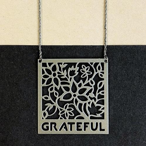 GRATEFUL pendant, silver