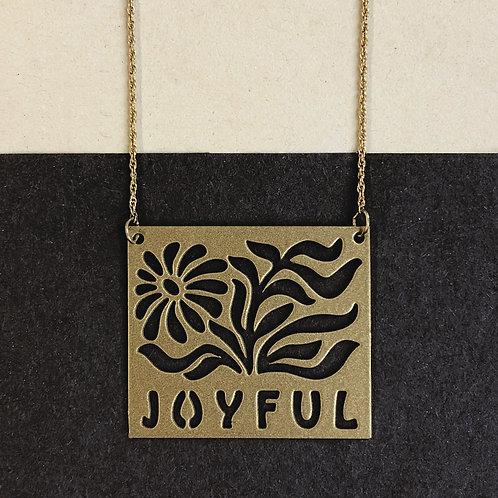 JOYFUL pendant, gold