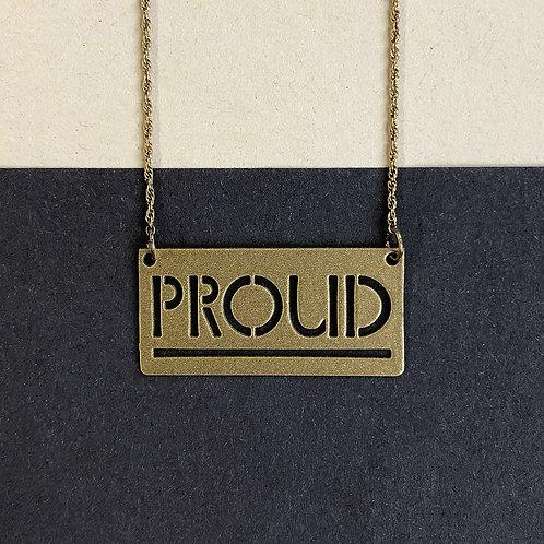 PROUD pendant, gold