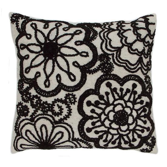 Two-Tone Pillow, Black/Cream