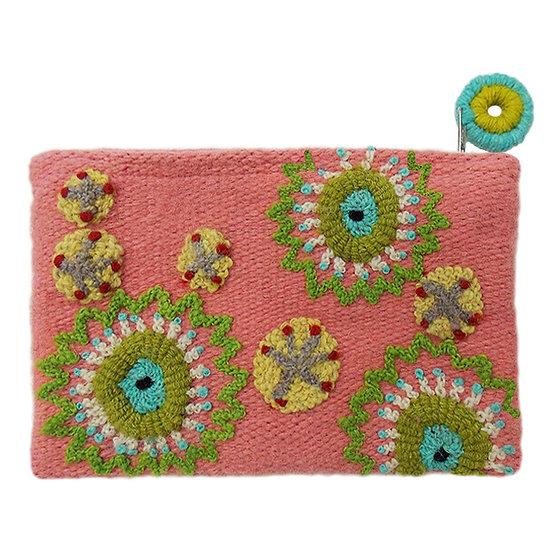 Pinwheel purse, 5 x 7 in.