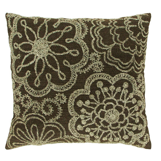 Large Two-Tone Pillow, Heather/Dark Gray
