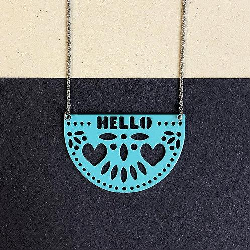 HELLO pendant, turquoise