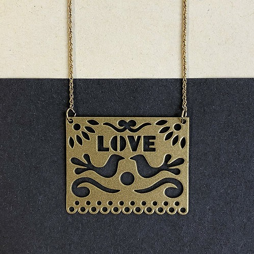LOVE pendant, gold