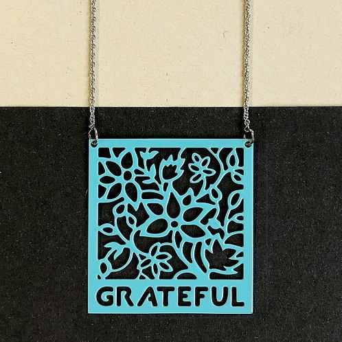 GRATEFUL pendant, turquoise