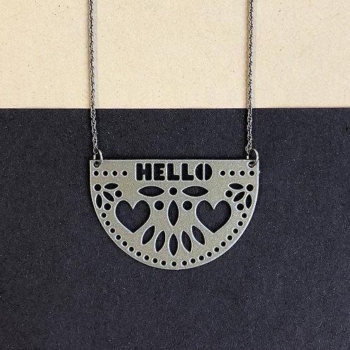 HELLO pendant, silver