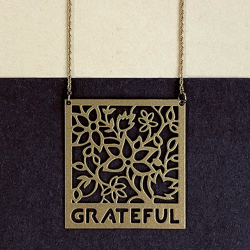 GRATEFUL pendant, gold