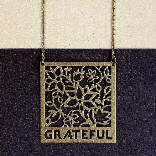 GRATEFUL pendant, gold