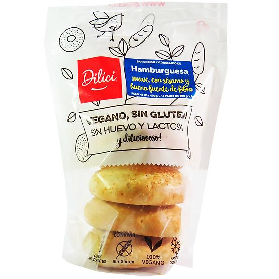 Pan Hamburguesa Sin Gluten - Dilici