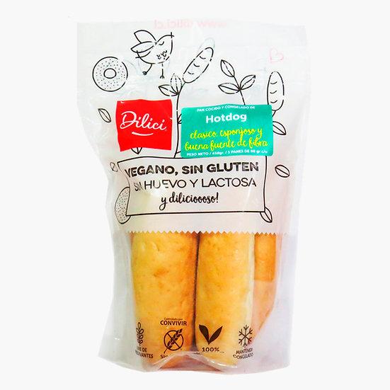 Pan Hot Dog Sin Gluten - Dilici