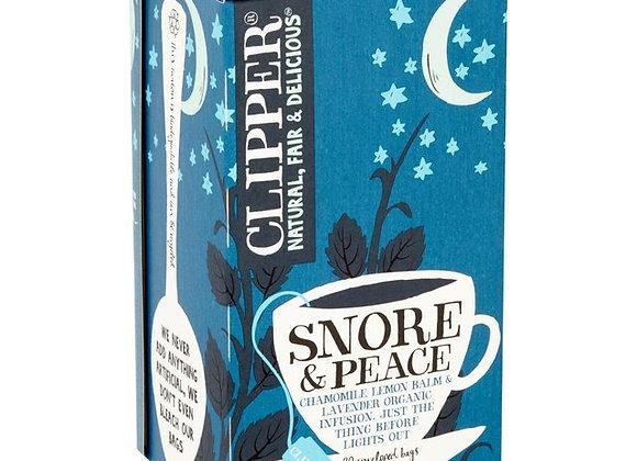 Snore & Peace Infusión Orgánica marca Clipper - 20 bolsitas