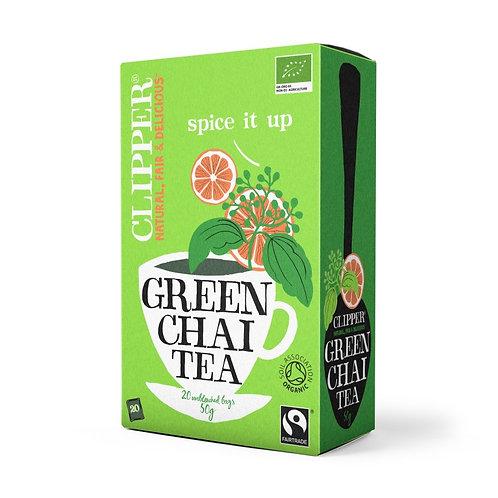 Té Verde Chai Orgánico en bolsita Clipper
