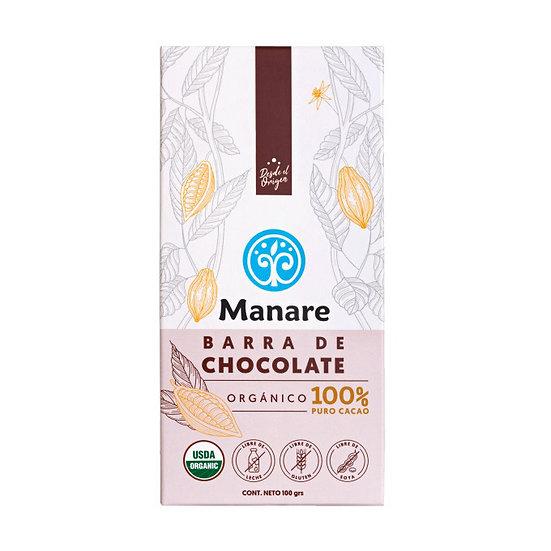 Chocolate Orgánico 100% cacao