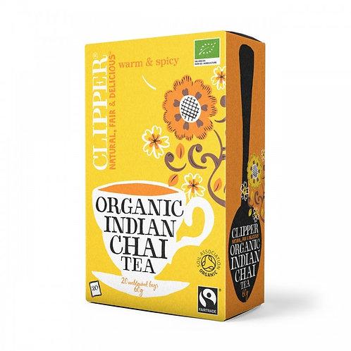 Té Indian Chai Negro Orgánico en bolsita Clipper