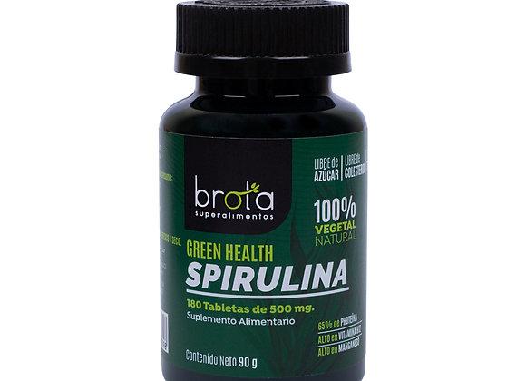 Spirulina Orgánica Brota 180 Tabletas