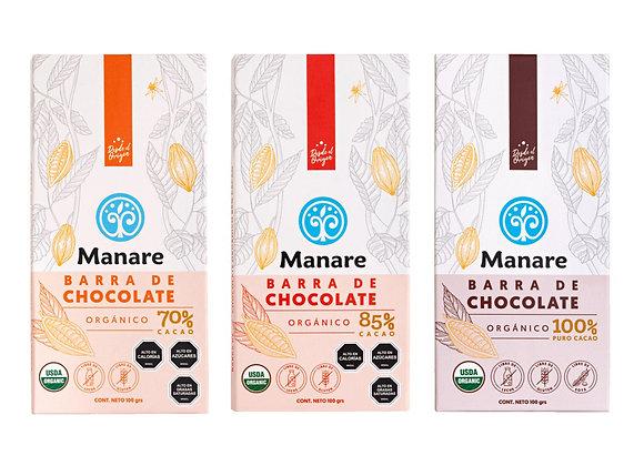 Barra de Chocolate Orgánica 100g