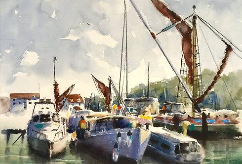 Thames Barges at Woodbridge