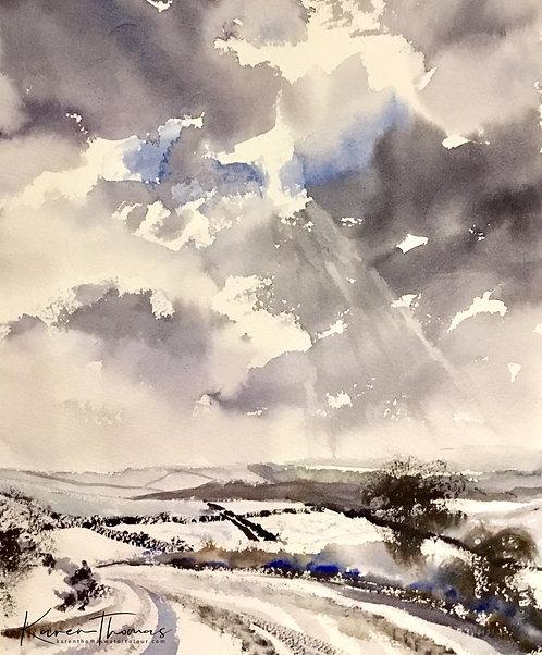Snow Over Dartmoor