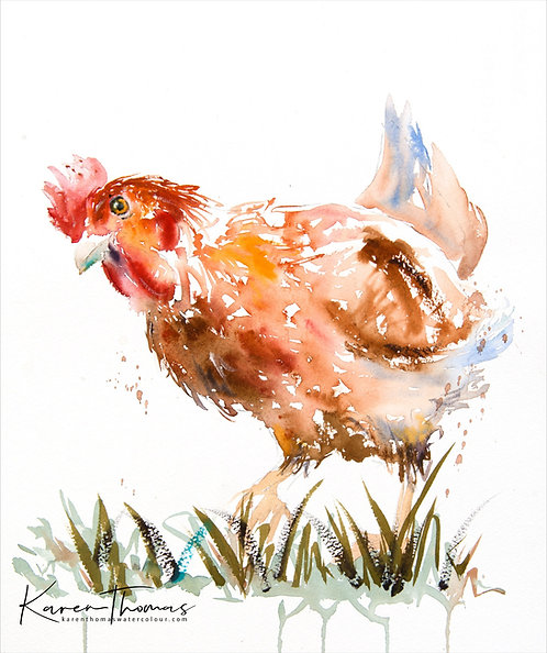 Hen painting - Pecking Around
