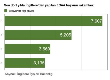 İngiltere'den Ankara Anlaşması'na başvuruların sayısı 2018'de rekor kırdı