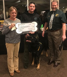 HKC Donation to EDC Canine Sheriff 2019.
