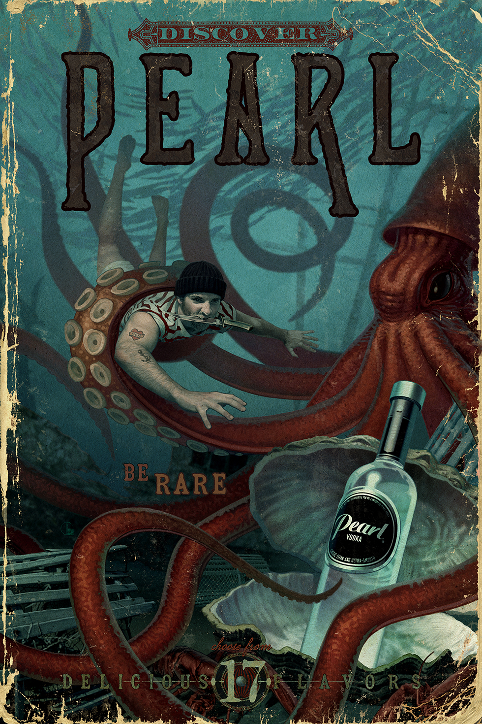 Pearl Vodka Cape Cod Illustration