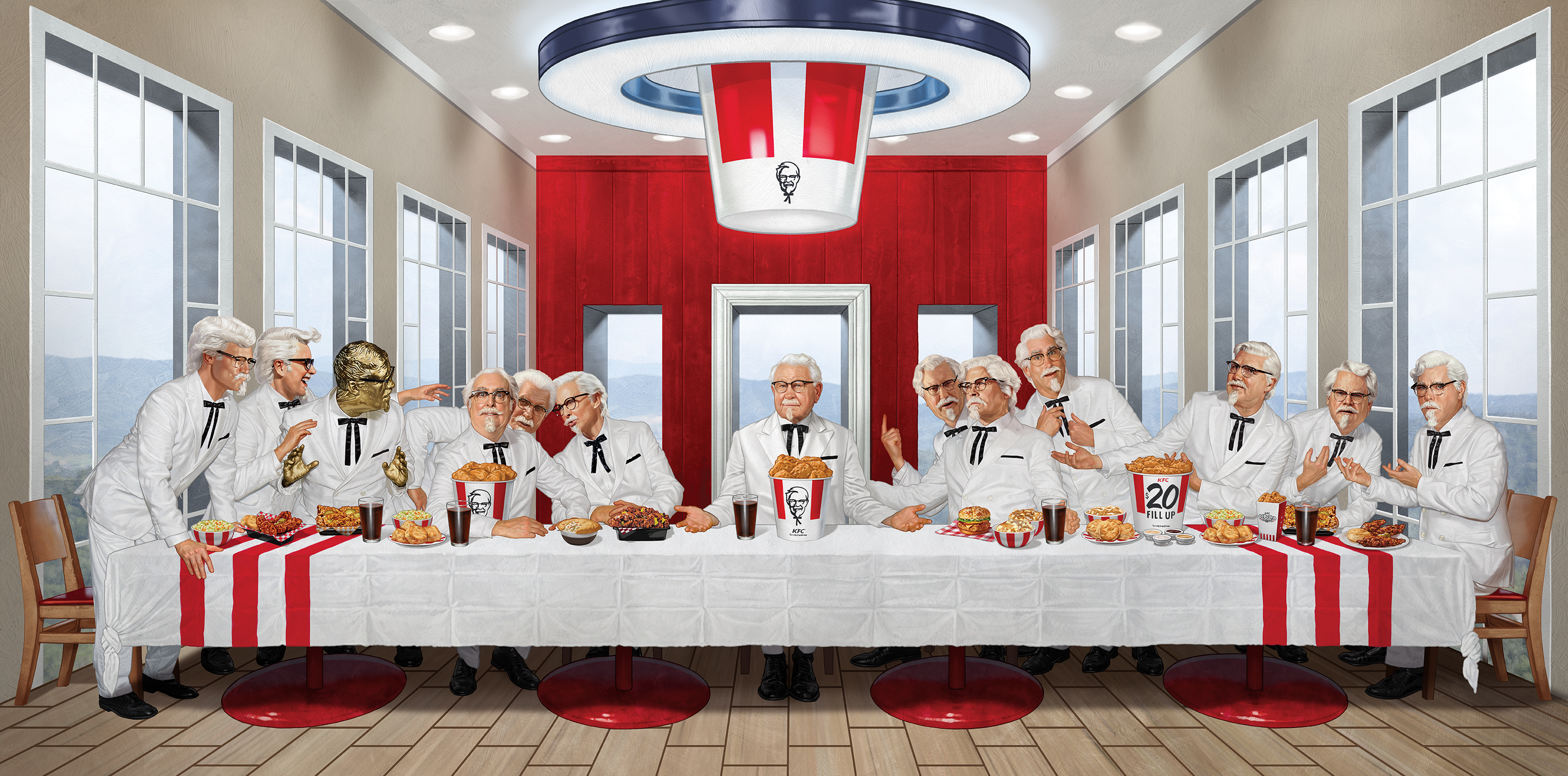 KFC Last Supper Illustration