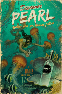 Pearl Vodka Tropics Illustration
