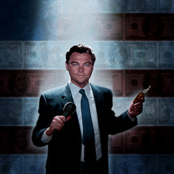 DiCaprio Wolf of Wallstreet Illustra