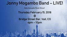 Jonny Mogambo Band Live - Thurs, Feb. 15, 2018!!