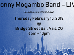 Jonny Mogambo Band Live - Thurs, Feb. 15, 2018!!