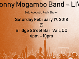 Jonny Mogambo Band Live - Sat, Feb. 17, 2018!!