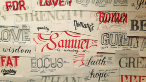 Calligraphy and Lettering Month Summary