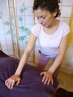 Massage warm up and gentle stretch.