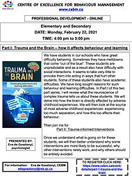 Trauma and Brain-Part I -flyer PD CEBM.j