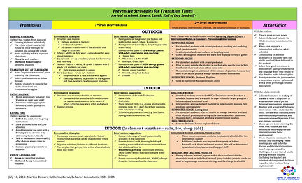 Intervention Continuum (transitions) -RS
