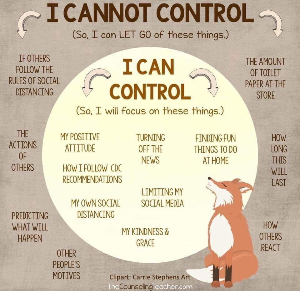 What I can control - Counseling Teacher.