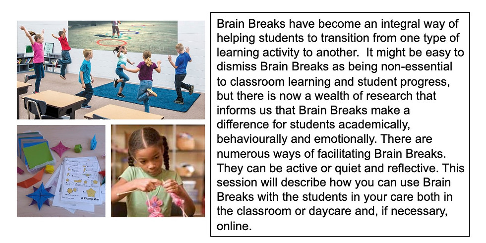 BRAIN BREAKS MAKE A REAL DIFFERENCE