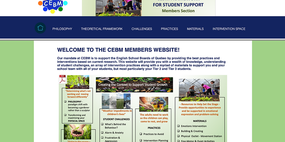 LAUNCH: Welcome to the New CEBM Members Section Website!