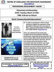Trauma-informed Interventions-Part II -f