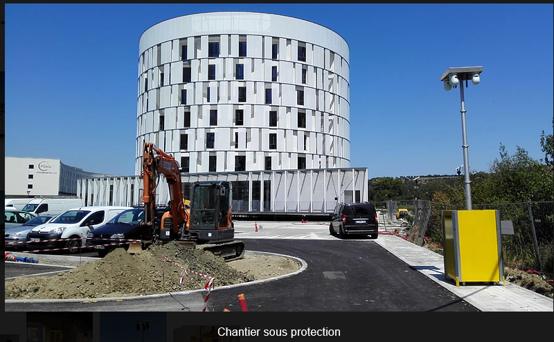 Solution de videoprotection pour chantier