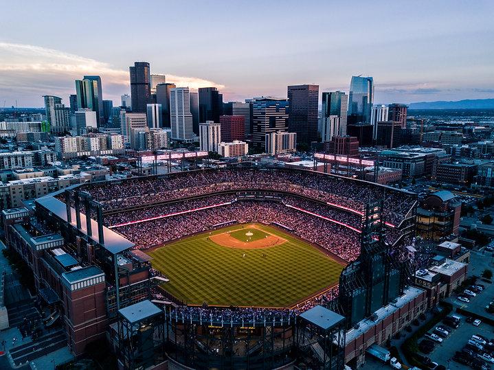 Aerial drone photo - Skyline of Denver C