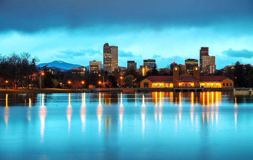 Downtown Denver, Colorado at the morning