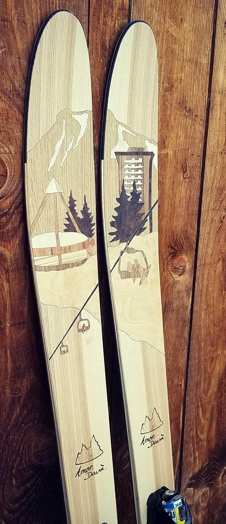 Amon Dava ski bois Le Corbier