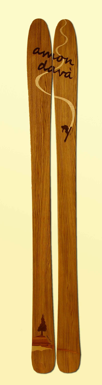 Amon Dava ski bois skieur arbre