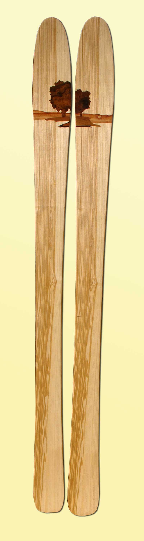 skis bois amon dava arbre
